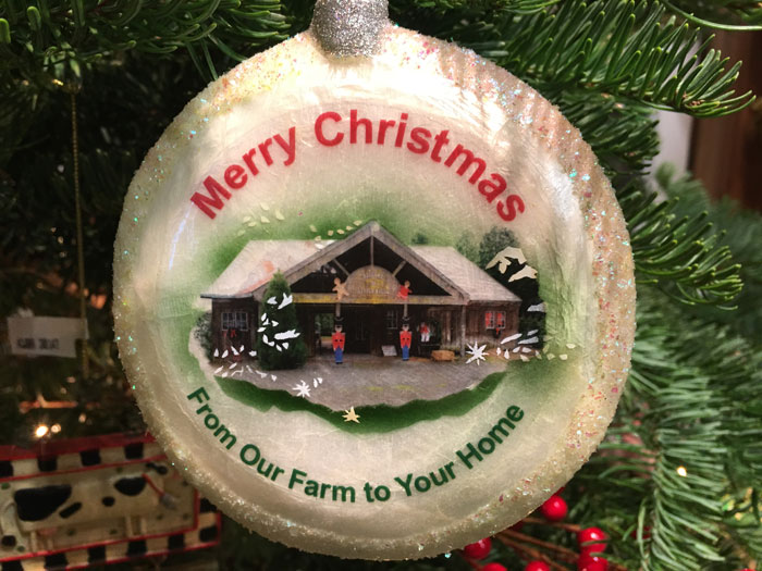 Unique Christmas Tree Ornament.The Gift Shop At Little Hills Christmas Tree Farm In